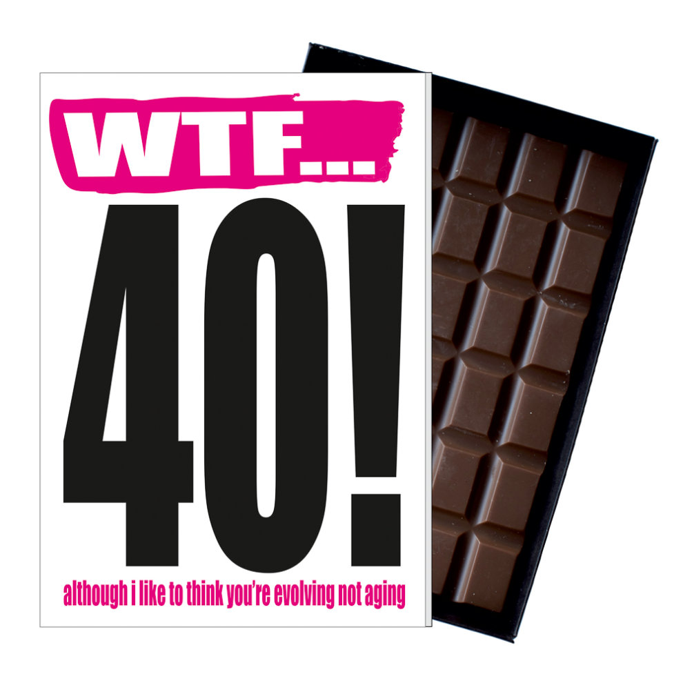 Funny 40th Birthday Gift Rude Naughty Present For Him Or Her 85g Chocolate Card On OnBuy