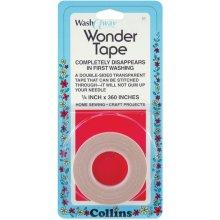 """Collins Wash Away Wonder Tape 1/4""""X10yd-"""