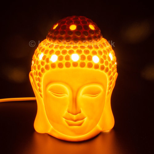 Buddha Electric Wax Melt Burner White Ceramic