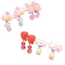 Set of 4 Clip-on Earrings for Kids Clip-on Earrings for Girls [Multicolor-8]