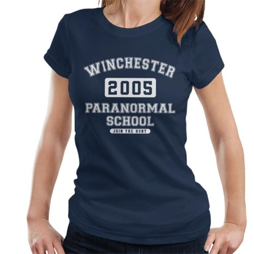 Winchester Paranormal School Varsity Text Women's T-Shirt