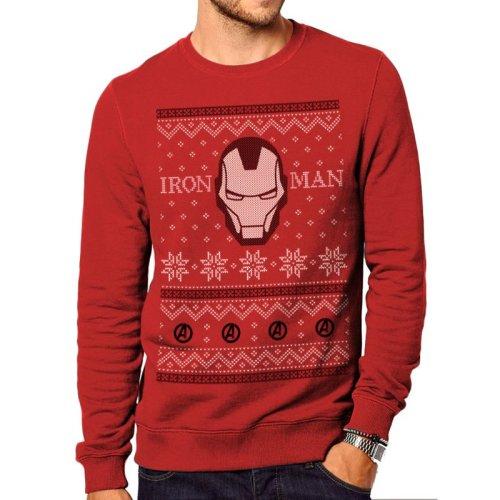 Iron Man -  fair isle iron man jumper official marvel christmas unisex
