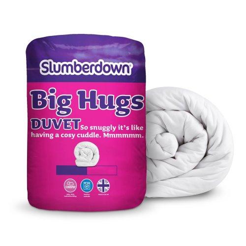 Slumberdown Big Hugs Winter Warm 15 Tog Duvet, White, King Size
