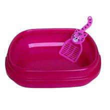 "Cute Design Indoor Training Pet Potty Cat litter Basin(17""*14""*5""),RED"