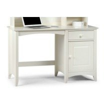 Treck White Stone Desk - 1 Door 1 Drawer - Fully Assembled Option Flat Pack No Chair Assembled Hutch (+164.99)