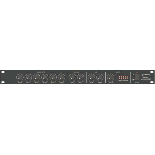 1U Mic/Line Rack Mixer