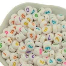 A-Z Letter Round Beads for DIY Ornament Gifts