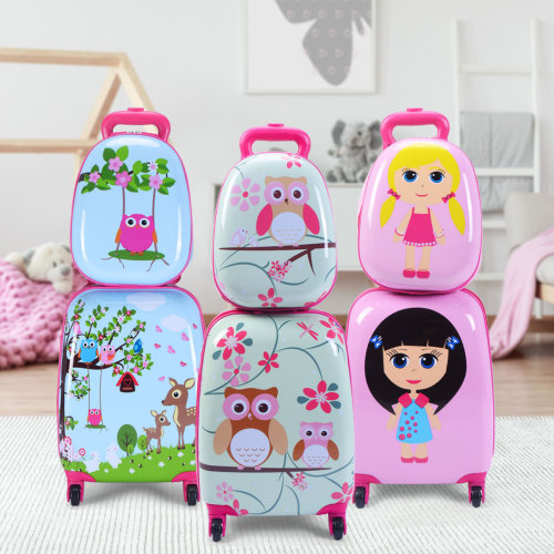 12'' 16'' ABS Kids Backpack Luggage Set Suitcase