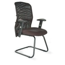 Jupiter-C Mesh Back Cantilever Framed Visitors Armchair with Adjustable Lumbar Support by Eliza Tinsley 6200AVBK