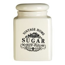Vintage Home Sugar Jar - Cream
