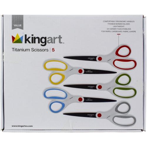 Titanium Scissors Value Pack 5/Pkg-