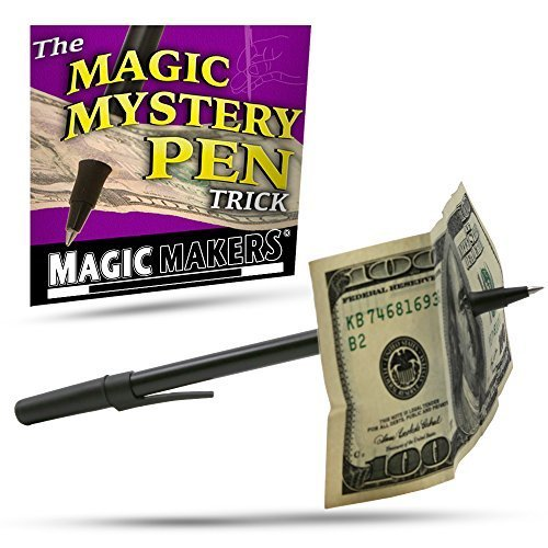 Magic Makers Magic Mystery Pen Trick  Pen Through Dollar Magic Trick