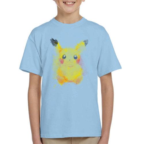 Electric Watercolour Pikachu Pokemon Kid's T-Shirt