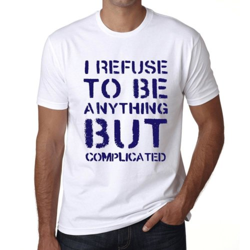 3b55e98ec Mens Vintage Tee Shirt Graphic T shirt Anything but COMPLICATED White on  OnBuy