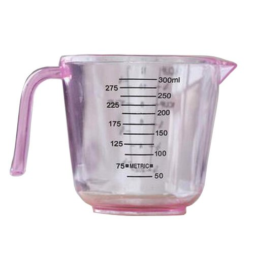 Plastic Measuring Cup Scale Cups Baking Tools 300ml Pink