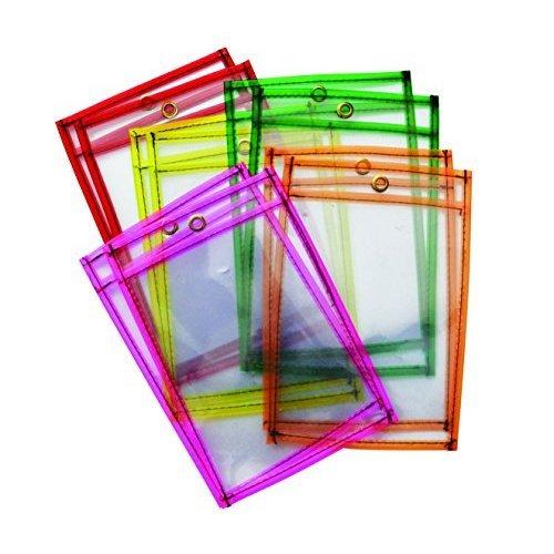 """Mind Sparks Dry Erase Pockets (10 Piece), Neon, 6 x 9"""""""""""