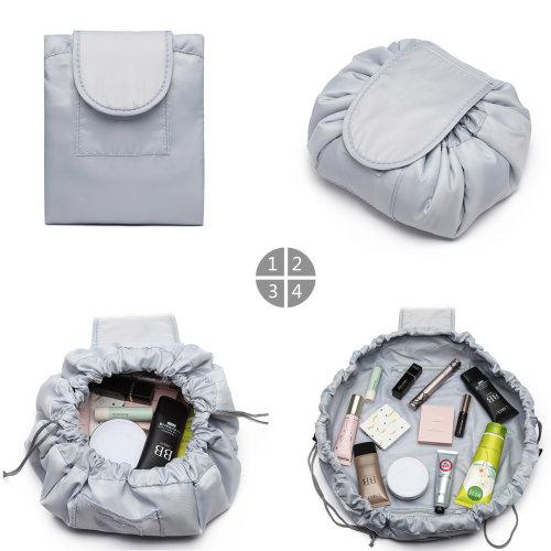 Miss Lulu Lazy Drawstring Travel Storage Bag Cosmetic Bag Organiser Grey