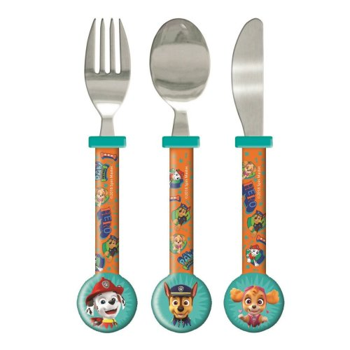 Paw Patrol Dynamic 3 Piece Round Cutlery Set For Kids