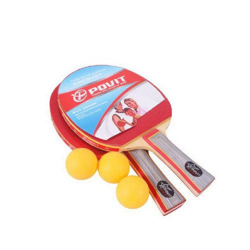 Table Tennis Paddles PE-4225 Cheap Table Tennis Rackets with Three Balls