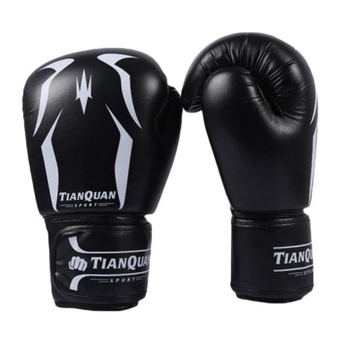 Boxing - Kickboxing Glove Full Finger Gloves -MMA 2 ---- Black