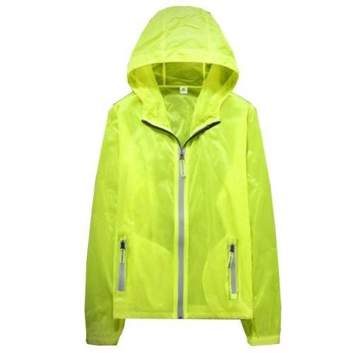 Waterproof Luminous Sun Protective Feather Clothing Cycling Climbing Long Sleeve Shirts-Yellow