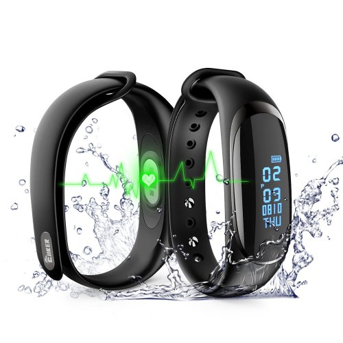 Fitness Tracker Watch,Fitness Trackers with Heart Monitor IP67 Waterproof HR Blood Pressure Digital Watch Smart Watch Waterproof with Step...