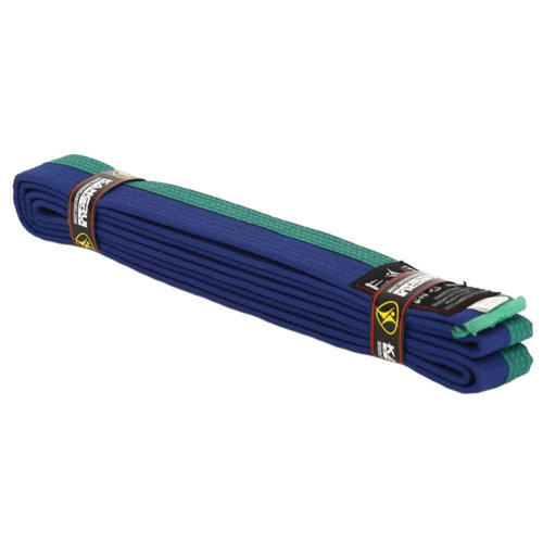 Premium Cotton Martial Arts Belt Taekwondo Uniform Ranking Belts - Green/Blue