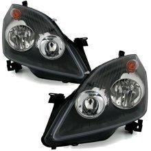 Vauxhall Zafira Mk2 2011-2014 Black Headlights Headlamps 1 Pair O/s & N/s