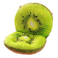 3D Pattern Cotton Plush Detachable Anti-skidding Floor Pillow Chair Pad Seat Cushion, Kiwi Fruit