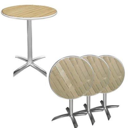 Samantha Outdoor Folding Bistro Table Ash Top