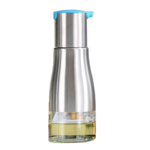 Practical Stainless Steel Glass Oil Container Vinegar Bottle Cruet, Blue