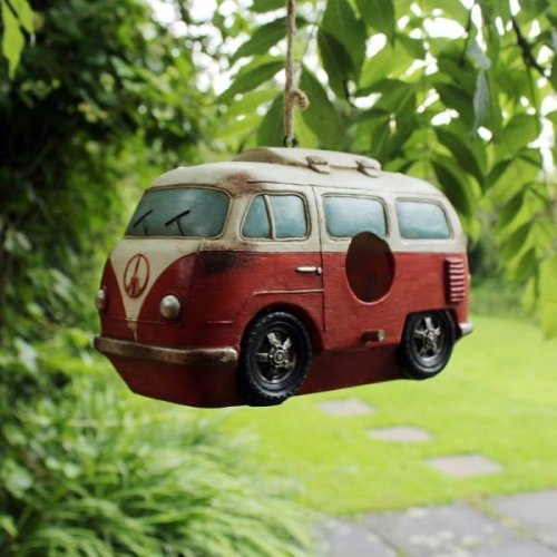 Kingfisher Campervan Garden Authentic Bird House Rustic Ideal For Nesting or Bird Feed