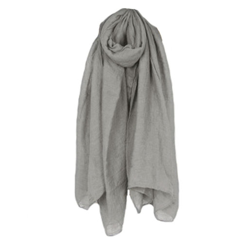 Womens Fashion Solid Scarves Comfortable Scarf Shawl Wrap, Grey