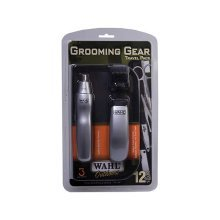 Wahl Mens Grooming Gear Travel Kit Battery Hair Ear And Nasal Trimmer Set (9962-1417)