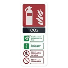 Fixman Co2 En3 Fire Extinguisher Sign 202 x 82mm Pl - Fire Extinguisher Sign -  fire extinguisher sign co2 en3 82mm fixman 202 pl 827074