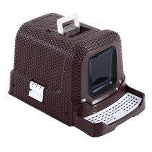 Pawhut Cat Litter Box with Scoop Coffee 54l ? 42w ? 41h Cm