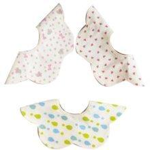 3 Pieces of Baby Bibs Baby Feeding Bib Waterproof [E]
