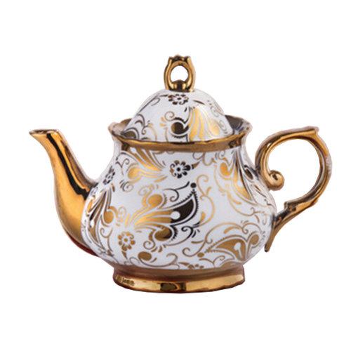 European style luxury Ceramic Tea Pot Coffee Pot