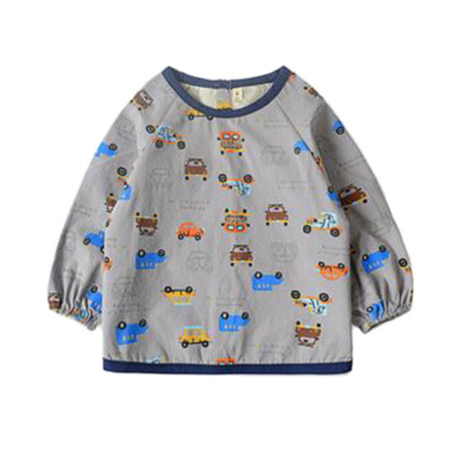 37106b212c79a Creative Baby Smock Feeding Bib Waterproof & Oilproof Feeding Clothes Baby  Bibs Cars on OnBuy