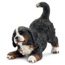 Schleich Bernese Mountain Dog Puppy Model - Farm Life 16398 Dogs Figure -  dog schleich mountain bernese puppy farm life 16398 dogs figure