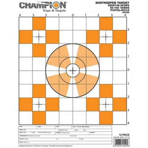 Champion Traps and Targets 45550 Shotkeeper Sightin Scope Tgts Small 12Pk