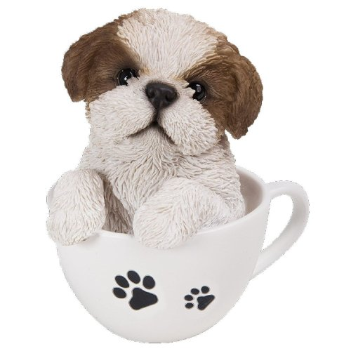 Vivid Arts TP-STZU-F Shih Tzu Puppy in Tea Cup