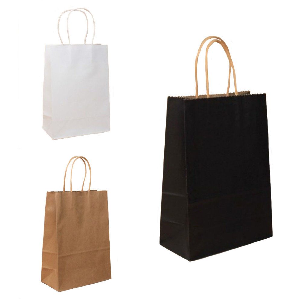 Pack Of 12 Paper Gift Bags Twisted Handles Kraft Gifts Bulk Birthday