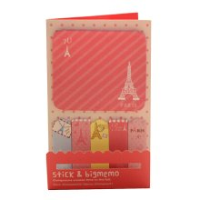 Set of 4 Lovely Sticky Note Pads Memo Pad Stick Marker Pads Tower Pink