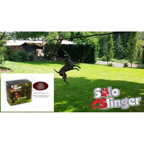 Tumbo 851963007199 35 to 50 ft. Solo Slinger Zipline Toy with trolley