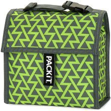 PACKiT Mini Cooler Freezable Snack Bag, Lightning Green