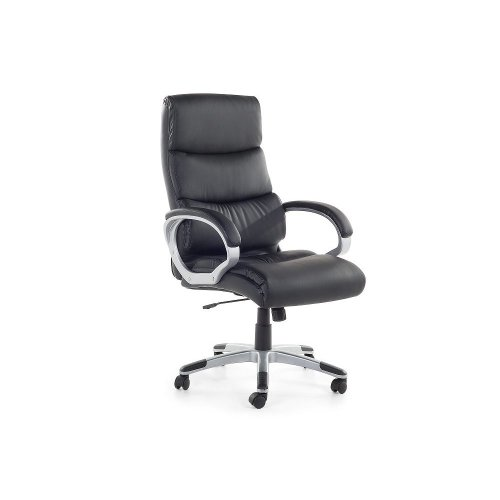Office chair - Computer chair - Swivel - Black- Synthetic leather - KING