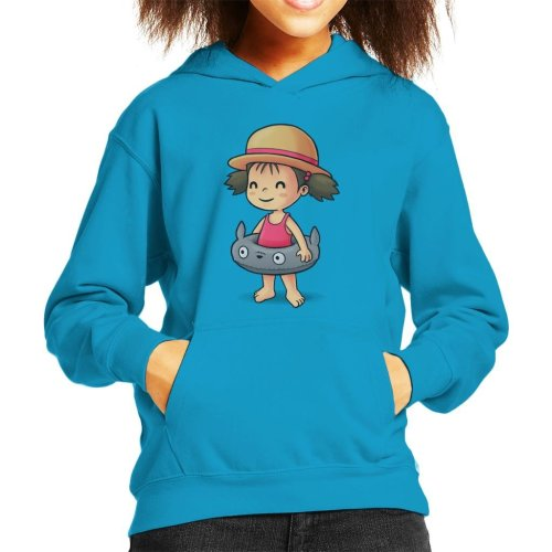 My Neighbor Totoro Cute Beach Mei Kid's Hooded Sweatshirt