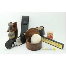 Premium Dovo Straight Razor Wood Shaving Set -- Includes Gift Box