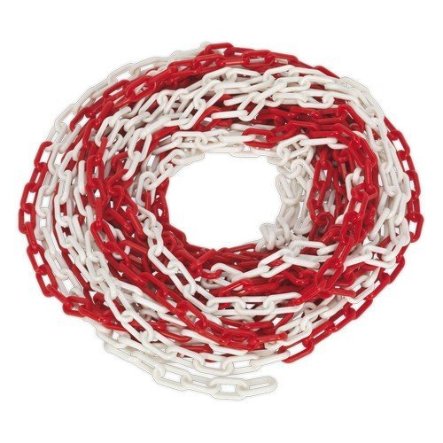 Sealey HSC25M Safety Chain Red/White 25mtr x 6mm